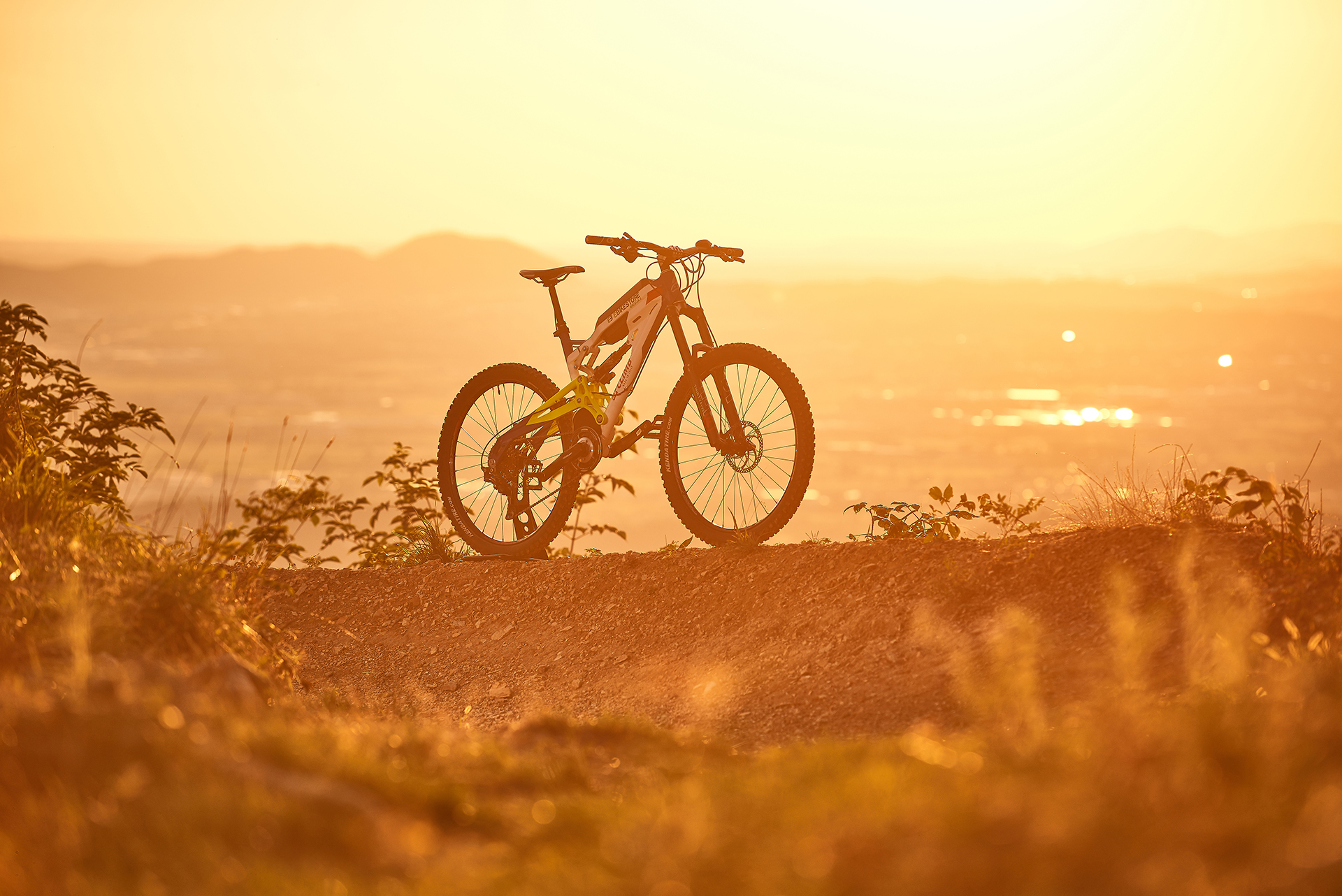 bike, ebike, mountain, country, hill, rider