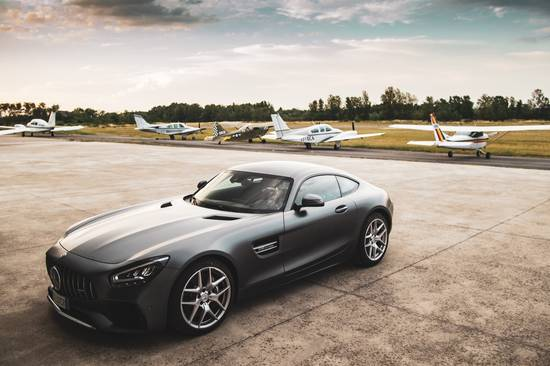 Mercedes AMG GT airplane