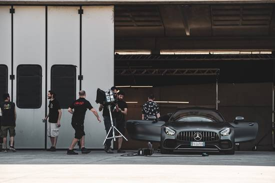 Mercedes AMG GT backstage