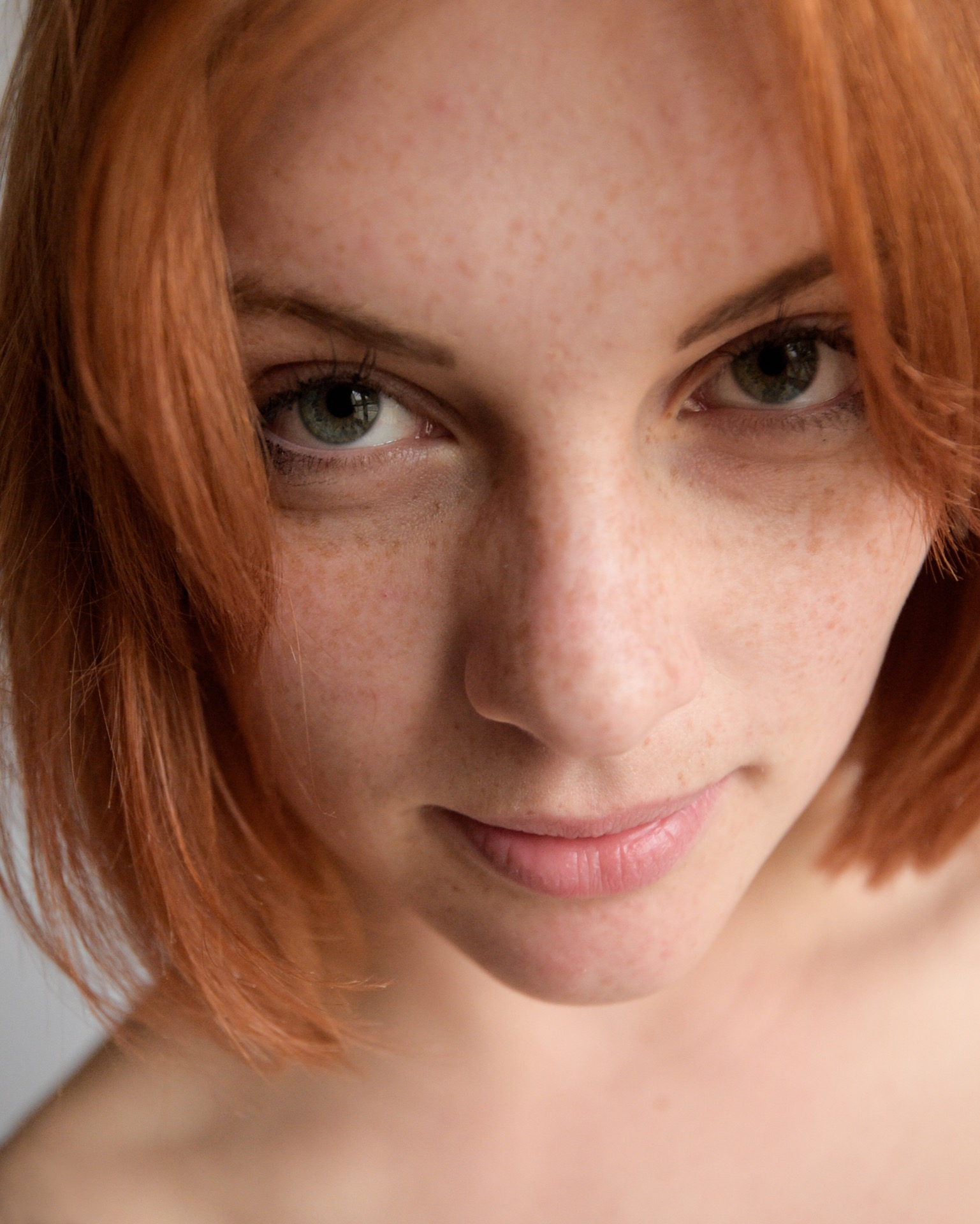 portrait, girl, eyes, lips, natural,  face, freckles, redhair